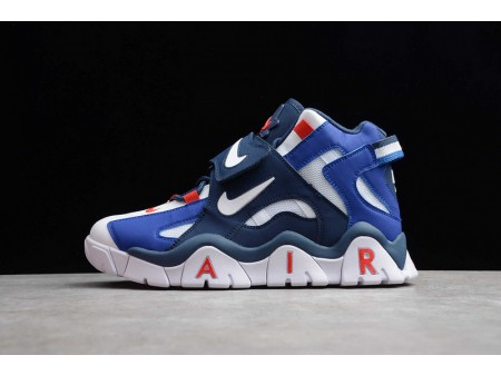 Nike Air Barrage Mid QS White Red DK Blue CD9329-005 Men and Women