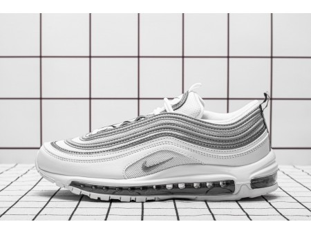 Nike Air Max 97 White Reflective Silver Wolf Grey 921826-105 Men and Women