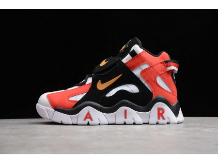 Nike Air Barrage Mid QS White Black Red Metal Gold CD9329-008 Men and Women