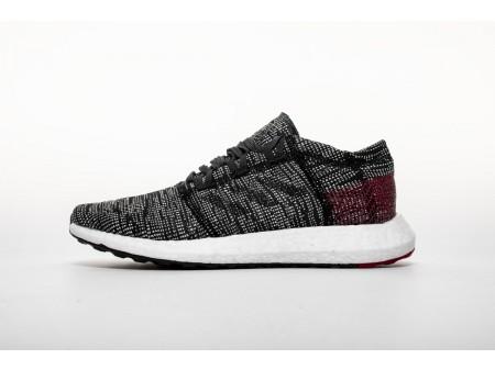 "Adidas Pure Boost GO ""Carbon/Core Black/Power Red"" AH2323 Men"