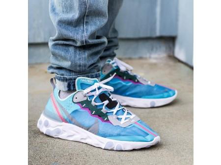 "Nike React Element 87 ""Royal Tint"" Blue AQ1090-400 Men Women"