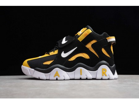 Nike Air Barrage Mid QS Bright Yellow Black White CD9329-002 Men and Women