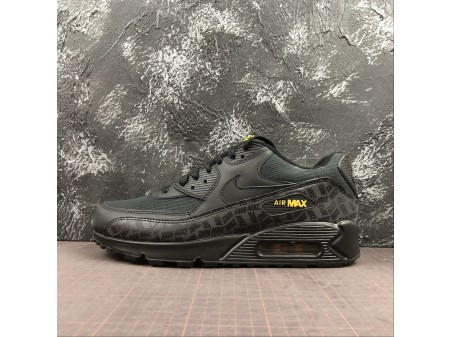 Nike Air Max 90 ESSENTIAL Black/Yellow BQ4685-001 Men