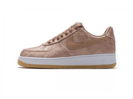 CLOT x Nike Air Force 1 Low PRM Rose Gold Silk CJ5290-600 Men Women