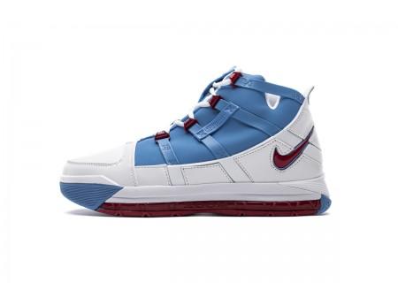 "Nike Zoom Lebron III QS ""Houston Oilers"" University Blue Red AO2434-400 Men"