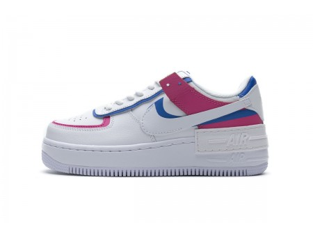 WMNS Nike Air Force 1 Cotton Candy Shadow Pink White CU3012-111 Women