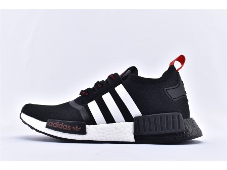 Adidas NMD_R1 Boost Black White Red PV2548 Men and Women