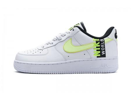 "Nike Air Force 1 Low '07 LV8 ""Worldwide"" White Volt Black CK6924-101 Men Women"