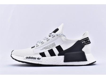 Adidas NMD_R1 Boost Footwear White Black FV9022 for Men