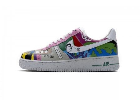 """Nike Air Force 1 Low Flyleather """"Ruohan Wang"""" Multi Color CZ3990-900 Men Women"""
