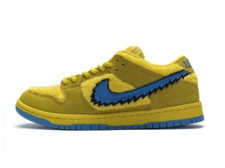 "Grateful Dead x Nike SB Dunk Low Pro QS ""Yellow Bear"" CJ5378-700 Men Women"
