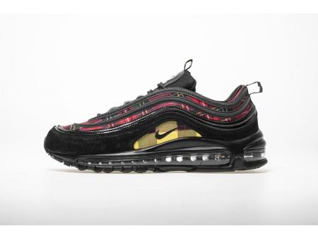 """Nike Air Max 97 SE """"Tartan"""" Black University Red AV8220 001 Men and Women"""