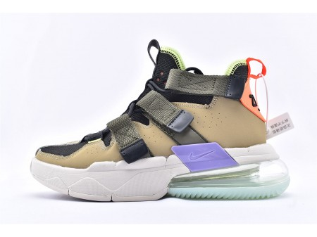 Nike Air Edge 270 High Parachute Beige Black Brown Basketball Shoes AQ8764-200 Men and Women