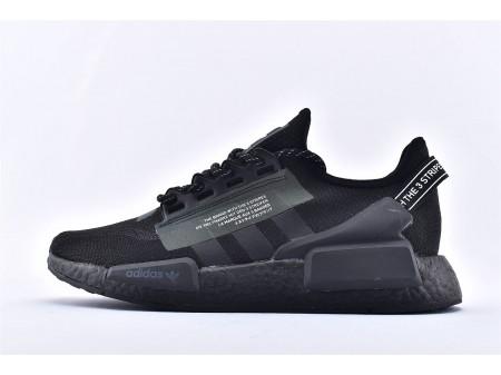 Adidas NMD_R1 V2 Boost 3M Black Carbon FW1961 for Men Women