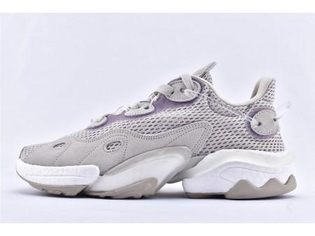 Adidas Torsion X Boost Gray White Purple EH0246 Men and Women