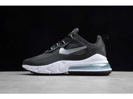 Nike Air Max 270 React Black Metallic Silver White CQ4598-071 Men