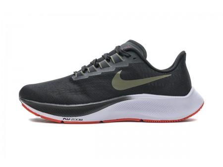 Nike Air Zoom Pegasus 37 Black Medium Olive Aqua BQ9646-004 Men