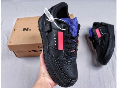 "Nike Air Force 1 Low TYPE GS ""n.354"" Black Zinnia Men Women BQ4793 001"