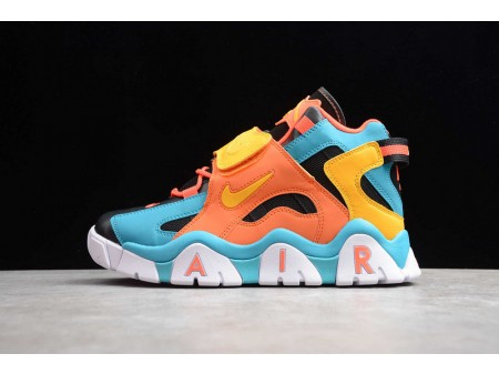 Nike Air Barrage Mid QS Black Orange Bright Yellow Lakewater Orchid CD9329-300 Men and Women
