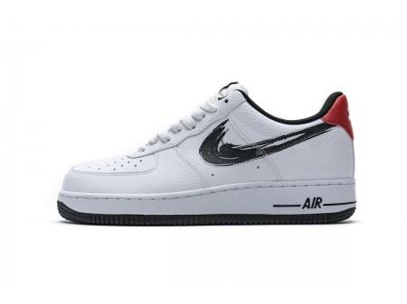 "Nike Air Force 1 Low '07 LV8 ""Brushstroke Swoosh"" White DA4657-100 Men Women"