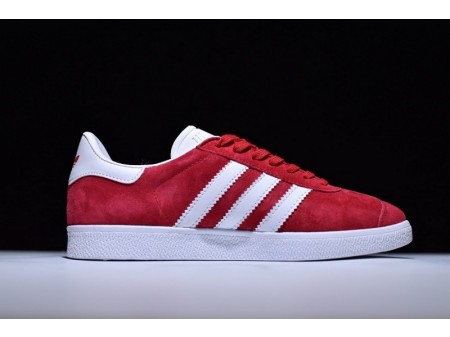 Adidas Originals Gazelle Scarlet/White/Gold Metallic S76228 for Men and Women