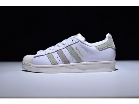 Adidas Superstar White/Green/Ice Purple BB2142 for Men and Women