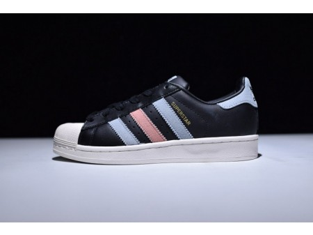 Adidas Superstar Core Black Blue Pink BB2141 for Men and Women