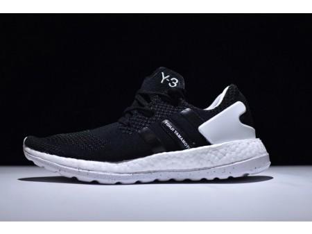 Adidas Pure Boost Zg Y-3 Knit Black/White AQ5729 for Men