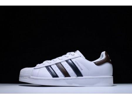 Adidas Superstar White/Dark Blue/Brown BB2248 for Men and Women