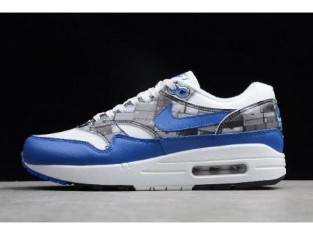 Atmos x Nike Air Max 1 Print 'We Love Nike' White/Game Royal-Neutral Grey AQ0927-100 Men