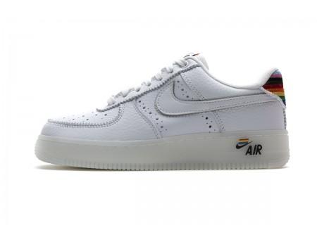 Nike Air Force 1 Low White Be true Rainbow Multicolor CV0258-100 Men Women