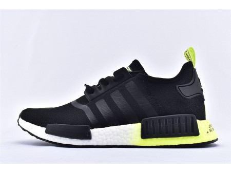Adidas NMD_R1 Boost Black White Green FW2283 for Men
