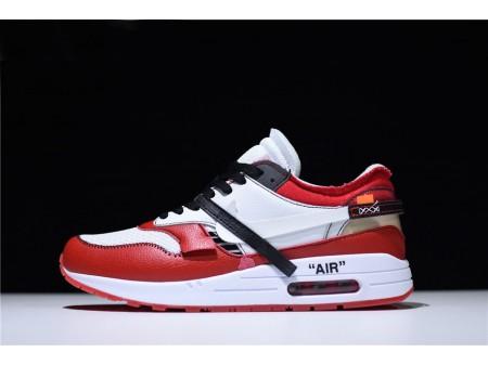 BespokeIND x Off-White x Nike Air Max 1 White-Black/Varsity Red Men