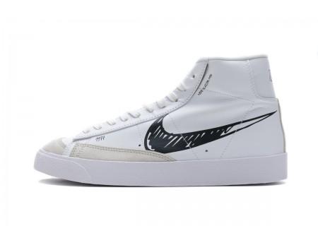 Nike Blazer Mid '77 Vintage Sketch White Black CW7580-101 Men and Women