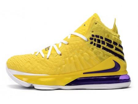 Nike LeBron 17 Yellow/White-Blue Men