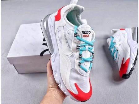 """Nike Air Max 270 React """"Bauhaus"""" White AQ4971-003 Men and Women"""
