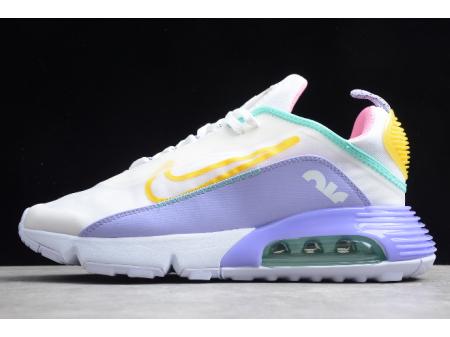 Nike Air Max 2090 White/Violet/Pink/Bright Yellow CT7698-009 Men Women