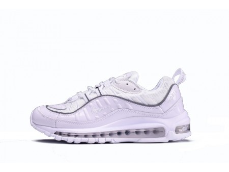 Supreme X Nike Air Max 98 All White 844694-002 for Men and Women