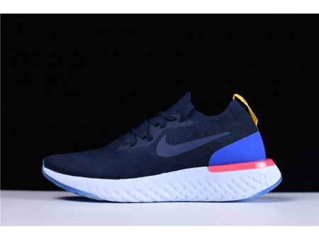 Nike Epic React Flyknit College Navy AQ0070-400 for Men and Women