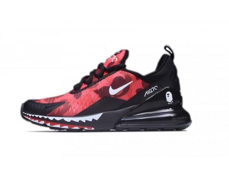 A Bathing APE x Nike Air Max 270 Black/Red Camo AH6799-016 for Men