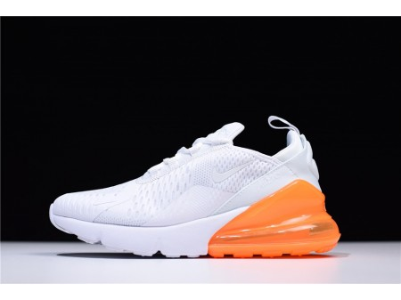 Nike Air Max 270 White/Orange AH6789-102 for Men and Women