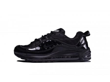 Supreme X Nike Air Max 98 All Black 844694-001 for Men