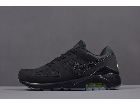 Nike Air Max 180 Night Ops 'Black/Volt' Runner Shoes AQ6104-001 Men