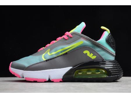 Nike Air Max 2090 Dark Grey/Magenta-Pink Green-Lemon CT7698-007 Men Women