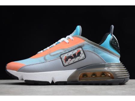 Nike Air Max 2090 Light Grey Blue/Orange C07630-400 Men Women
