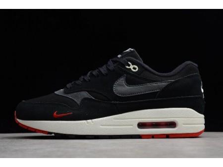 Nike Air Max 1 Premium 'Bred' Black/Oil Grey-University Red 875844-007 Men