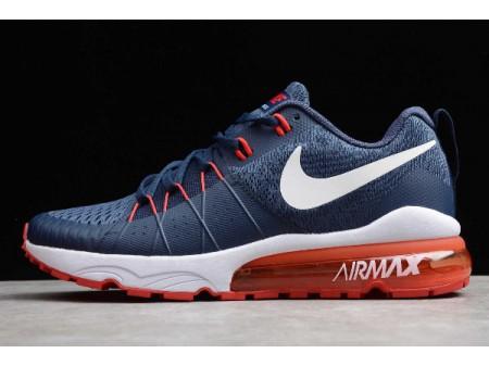 Nike Air Vapormax Flyknit Dark Blue/Red-White 880656-407 Men
