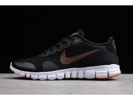 Nike Free Rn 3.0 V2 Black/Orange-Red-White 806568-003 Men