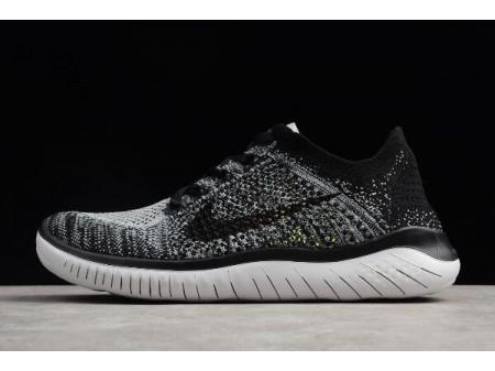 Nike Free Run Flyknit 2018 White/Black Running Shoes 942838-101 Men