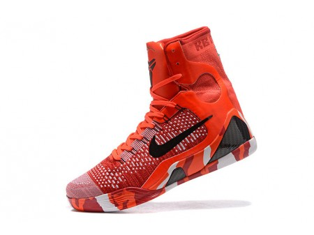 Nike Kobe 9 Elite 'Christmas' Bright Crimson/Black-White 630847-600 Men